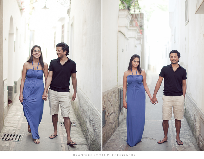 Capri wedding photos of couple in streets of anacapri