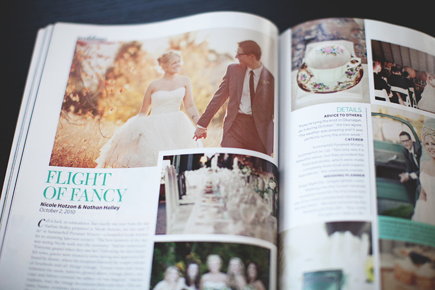 Brandon Scott Photography was feature in Wedding Bells Canadas Wedding Magaizine