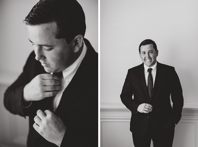 Groom Portrait Black and White Florida