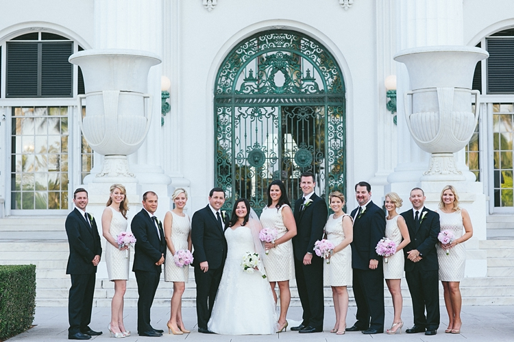 Flagler Museum Wedding party Palm Beach