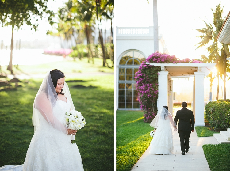 Sunset wedding at Flagler Museum