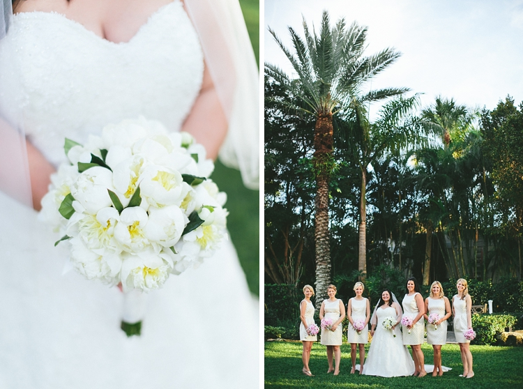 Bridesmaids portraits at Flagler Museum Wedding
