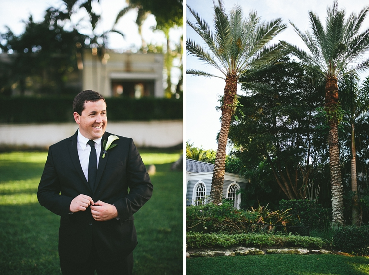 Groom at Flagler Museum Wedding