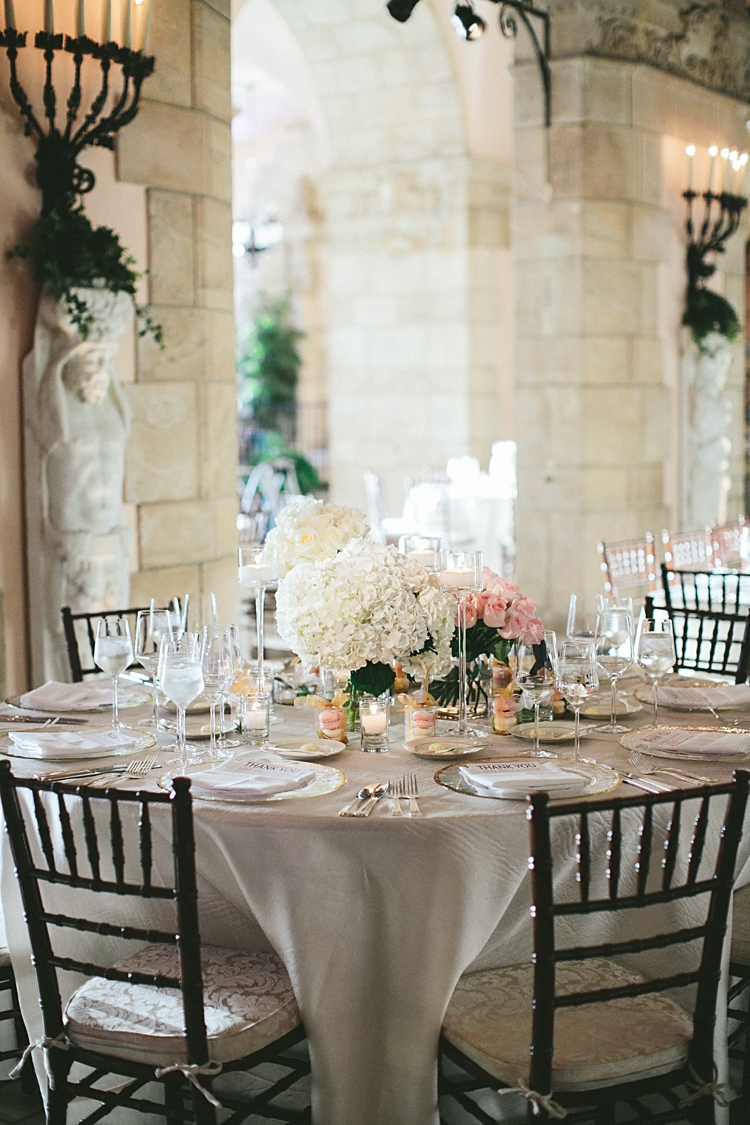 Flagler Museum Wedding reception decor