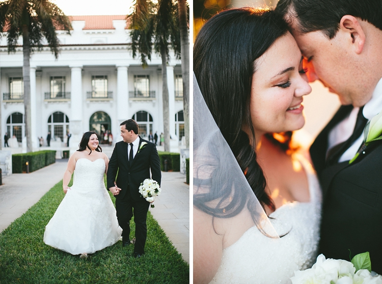 Flagler Museum Wedding with Bride and Groom