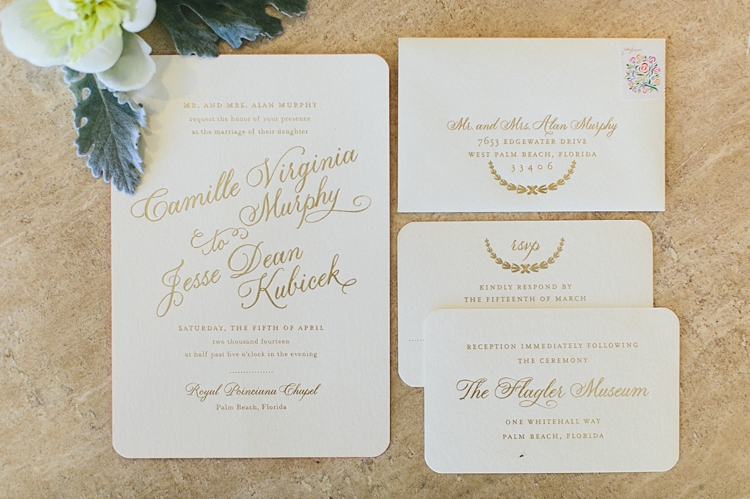 Wedding Invitation for a Palm Beach Wedding