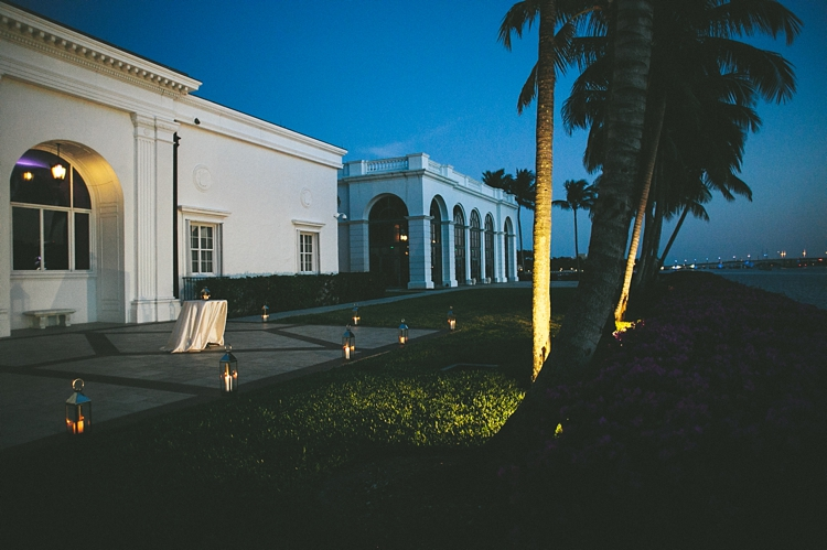 Waterside sunset at Flagler Museum Wedding